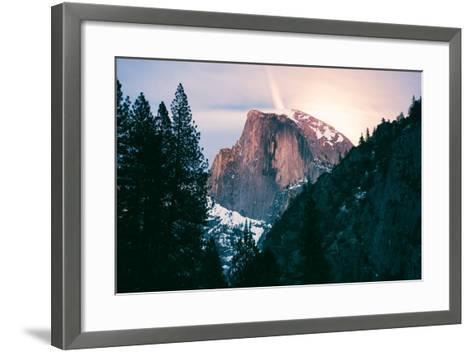 Moody Moonlight at Half Dome, Yosemite National Park, Hiking Outdoors-Vincent James-Framed Art Print