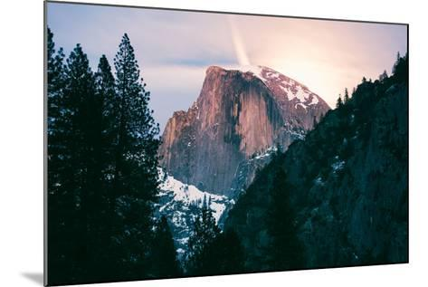 Moody Moonlight at Half Dome, Yosemite National Park, Hiking Outdoors-Vincent James-Mounted Photographic Print