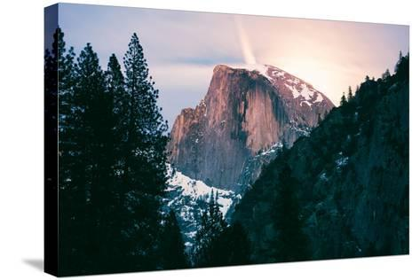 Moody Moonlight at Half Dome, Yosemite National Park, Hiking Outdoors-Vincent James-Stretched Canvas Print