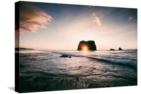 Arch Star at Blues Beach, Elephant Rock, Fort Bragg, Mendocino Coast-Vincent James-Stretched Canvas Print