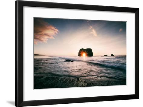 Arch Star at Blues Beach, Elephant Rock, Fort Bragg, Mendocino Coast-Vincent James-Framed Art Print