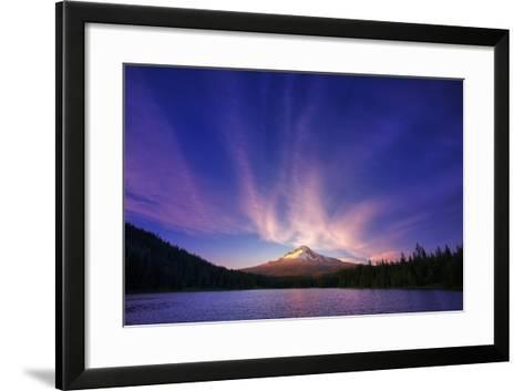 Hood Light, Magic Mood at Mount Hood, Trillium Lake, Oregon Portland-Vincent James-Framed Art Print