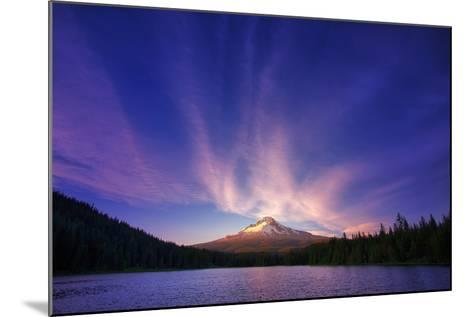 Hood Light, Magic Mood at Mount Hood, Trillium Lake, Oregon Portland-Vincent James-Mounted Photographic Print