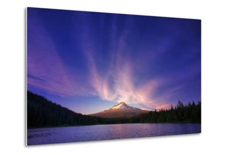 Hood Light, Magic Mood at Mount Hood, Trillium Lake, Oregon Portland-Vincent James-Metal Print