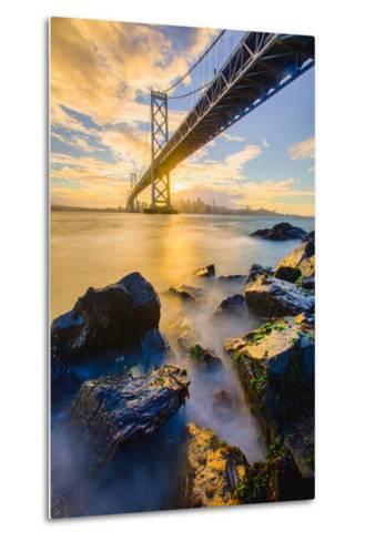 Warm Sunset Bay View San Francisco, Under Bay Bridge-Vincent James-Metal Print
