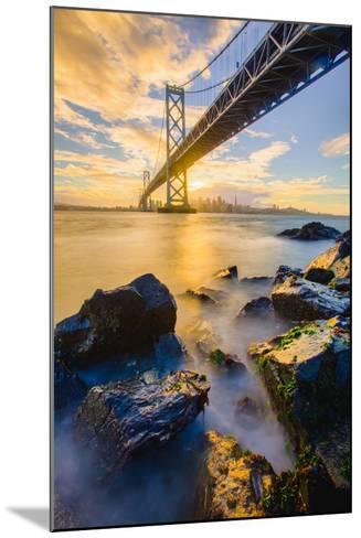 Warm Sunset Bay View San Francisco, Under Bay Bridge-Vincent James-Mounted Photographic Print