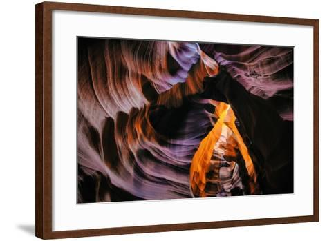 Antelope Canyon Swirl, Abstract, Southwest US, Page, Arizona, Navajo-Vincent James-Framed Art Print