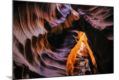 Antelope Canyon Swirl, Abstract, Southwest US, Page, Arizona, Navajo-Vincent James-Mounted Photographic Print