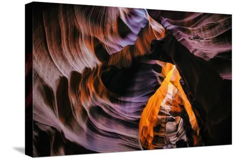 Antelope Canyon Swirl, Abstract, Southwest US, Page, Arizona, Navajo-Vincent James-Stretched Canvas Print
