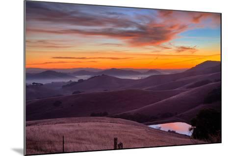 Dark Mood and Sunrise Hills, Petaluma Sonoma County, Bay Area-Vincent James-Mounted Photographic Print