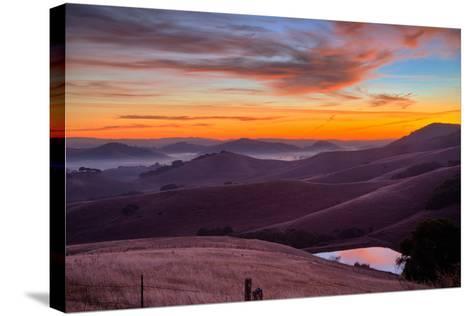 Dark Mood and Sunrise Hills, Petaluma Sonoma County, Bay Area-Vincent James-Stretched Canvas Print