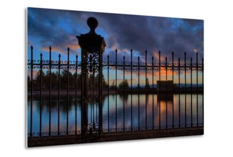 Resevoir Sunset at Mount Tabor, Portland Oregon, PDX-Vincent James-Metal Print