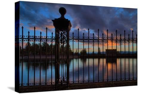 Resevoir Sunset at Mount Tabor, Portland Oregon, PDX-Vincent James-Stretched Canvas Print