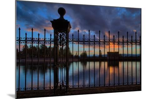 Resevoir Sunset at Mount Tabor, Portland Oregon, PDX-Vincent James-Mounted Photographic Print