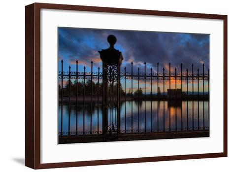 Resevoir Sunset at Mount Tabor, Portland Oregon, PDX-Vincent James-Framed Art Print
