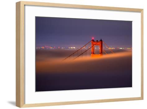 Golden Periscope - Golden Gate Bridge, San Francisco-Vincent James-Framed Art Print