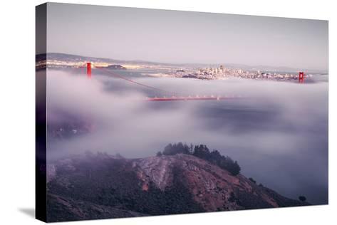 Enraptured by Fog, Golden Gate Bridge, San Francisco-Vincent James-Stretched Canvas Print