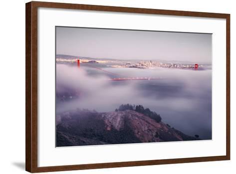 Enraptured by Fog, Golden Gate Bridge, San Francisco-Vincent James-Framed Art Print