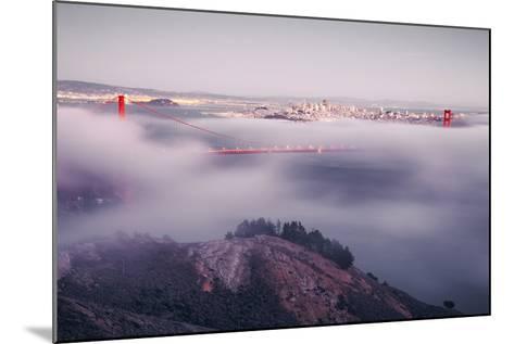 Enraptured by Fog, Golden Gate Bridge, San Francisco-Vincent James-Mounted Photographic Print