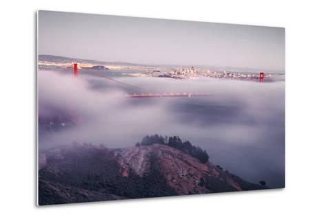 Enraptured by Fog, Golden Gate Bridge, San Francisco-Vincent James-Metal Print