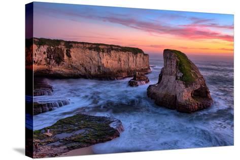 Sunset Seascape, Shark Fin Cove, Davenport, Santa Cruz, Pacific Ocean-Vincent James-Stretched Canvas Print