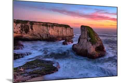 Sunset Seascape, Shark Fin Cove, Davenport, Santa Cruz, Pacific Ocean-Vincent James-Mounted Photographic Print