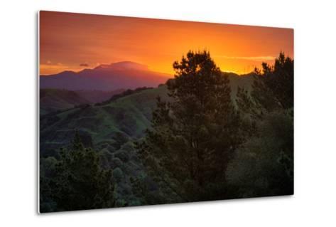 Deep Sunrise Glow, Oakland Hills Bay Area California-Vincent James-Metal Print