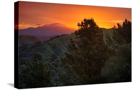Deep Sunrise Glow, Oakland Hills Bay Area California-Vincent James-Stretched Canvas Print