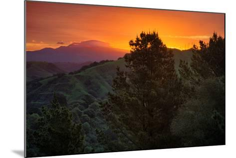 Deep Sunrise Glow, Oakland Hills Bay Area California-Vincent James-Mounted Photographic Print