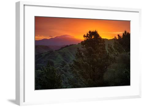 Deep Sunrise Glow, Oakland Hills Bay Area California-Vincent James-Framed Art Print