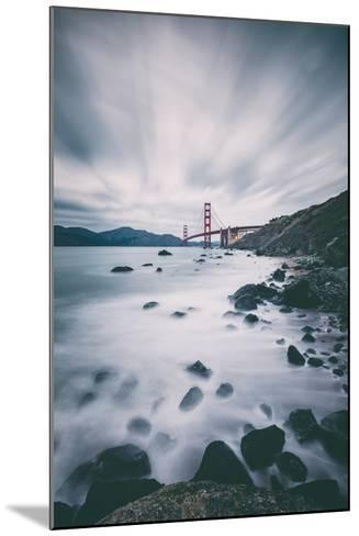 Sky and Water In Motion at Golden Gate Bridge - San Francisco-Vincent James-Mounted Photographic Print