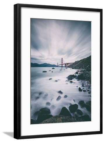 Sky and Water In Motion at Golden Gate Bridge - San Francisco-Vincent James-Framed Art Print