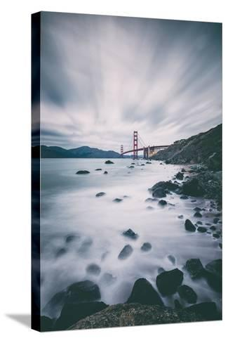 Sky and Water In Motion at Golden Gate Bridge - San Francisco-Vincent James-Stretched Canvas Print