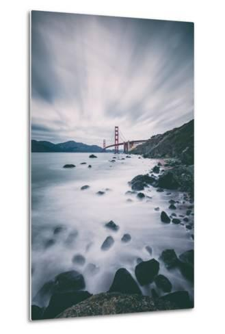 Sky and Water In Motion at Golden Gate Bridge - San Francisco-Vincent James-Metal Print