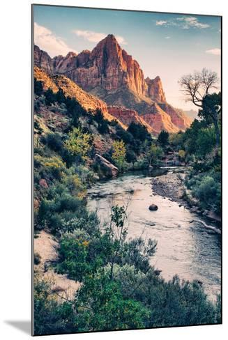 Dreamy Zion, Virgin River and Watchmen in Autumn, Zion National Park-Vincent James-Mounted Photographic Print