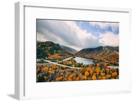 Autumn Lake Scene, White Mountains, New Hampshire-Vincent James-Framed Art Print