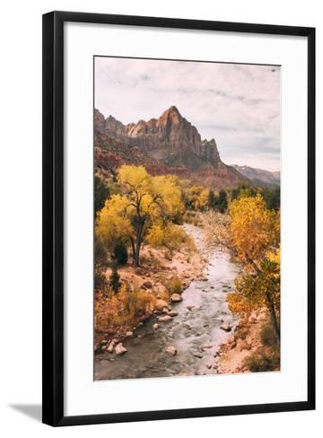 Autmun Virgin River, Zion National Park, Utah-Vincent James-Framed Art Print