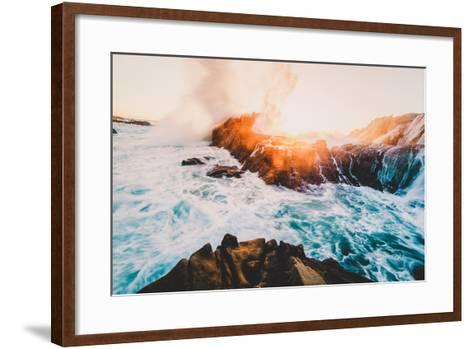 Fire and Sea, Sonoma Coast, California Coast, Pacific Ocean-Vincent James-Framed Art Print