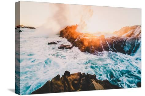 Fire and Sea, Sonoma Coast, California Coast, Pacific Ocean-Vincent James-Stretched Canvas Print