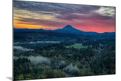 Majestic Sunrise at Jonsrud Viewpoint, Portland, Oregon, Mount Hood-Vincent James-Mounted Photographic Print