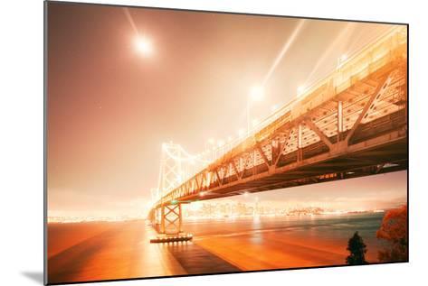 Peach Light Fantastic Cityscape at San Francisco Bay Bridge-Vincent James-Mounted Photographic Print