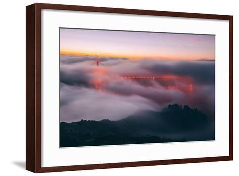 Envelope, Golden Gate Bridge in Fog, San Francisco Bay Area-Vincent James-Framed Art Print