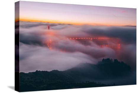 Envelope, Golden Gate Bridge in Fog, San Francisco Bay Area-Vincent James-Stretched Canvas Print