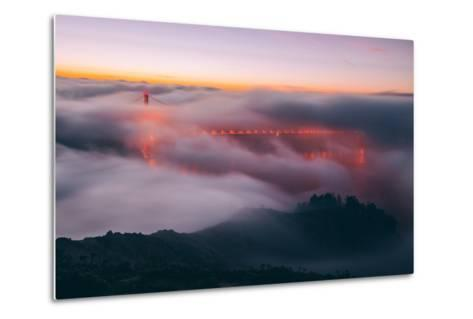 Envelope, Golden Gate Bridge in Fog, San Francisco Bay Area-Vincent James-Metal Print