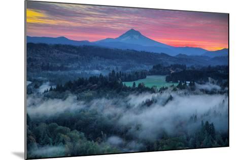 Light Fog at Sunrise from Jonsrud Point, Mount Hood Oregon-Vincent James-Mounted Photographic Print