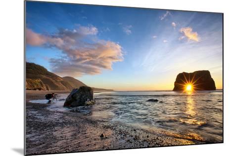 Workign the Coast, Sunset at Elephant Roack, Fort Bragg, Mendocino-Vincent James-Mounted Photographic Print