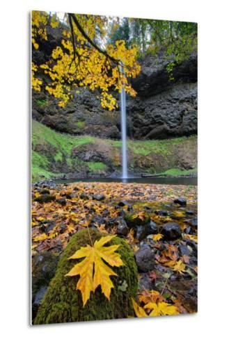 Autumn at South Falls, Silver Falls State Park, Silverton, Oregon-Vincent James-Metal Print