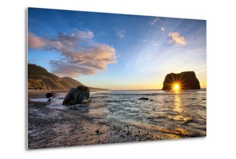 Workign the Coast, Sunset at Elephant Roack, Fort Bragg, Mendocino-Vincent James-Metal Print