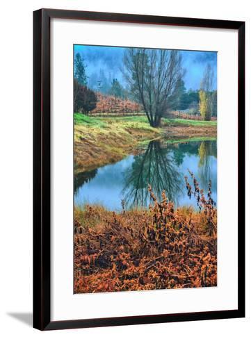 Autumn Pond Reflections, Calistoga, Napa Valley California-Vincent James-Framed Art Print