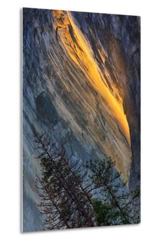 Firefall Abstract, Horsetail Falls, Yosemite National Park-Vincent James-Metal Print